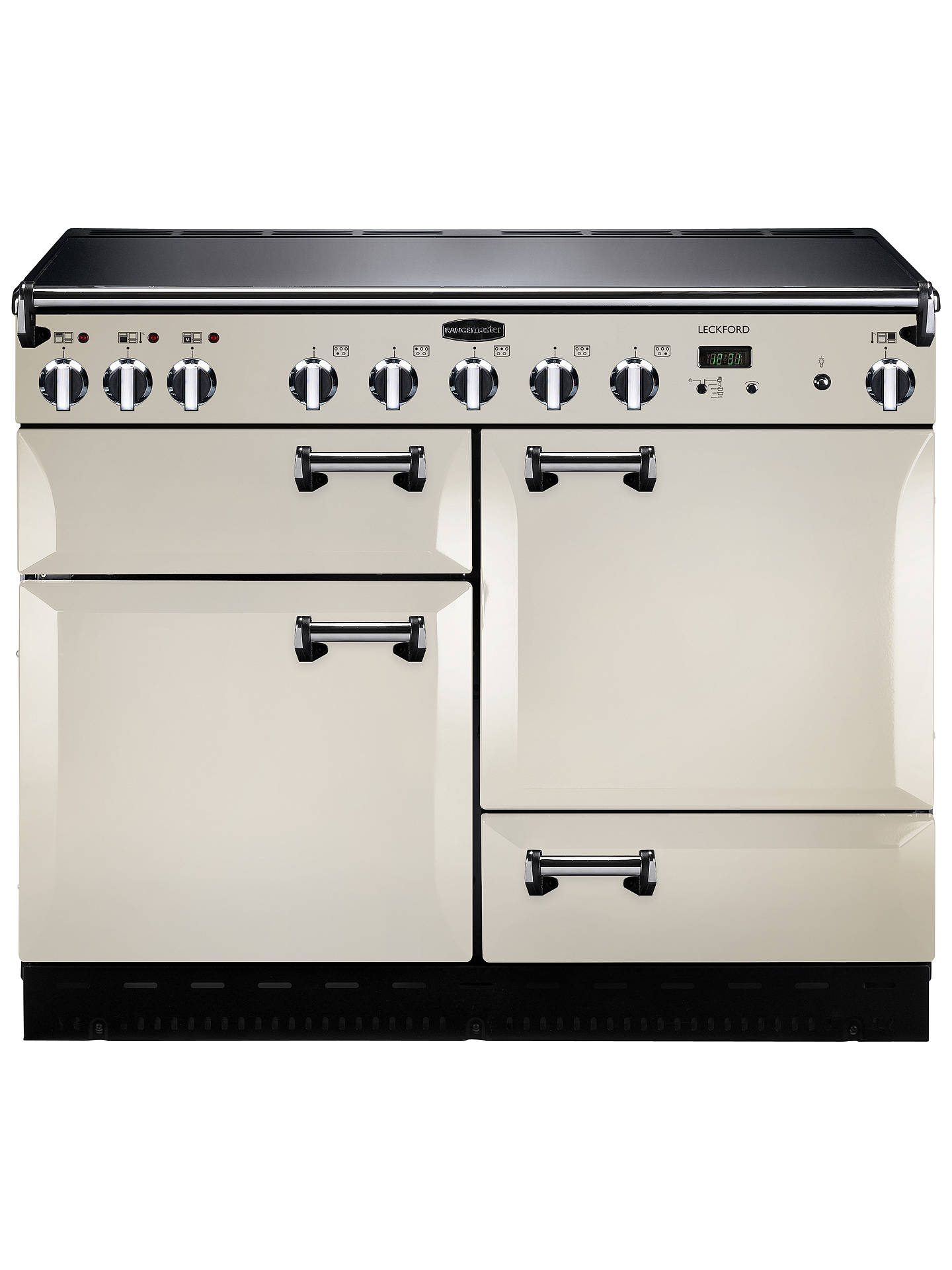 Buy Rangemaster Leckford LCK110EIIV/C Electric Induction Range Cooker, Ivory/Chrome Online at johnlewis.com