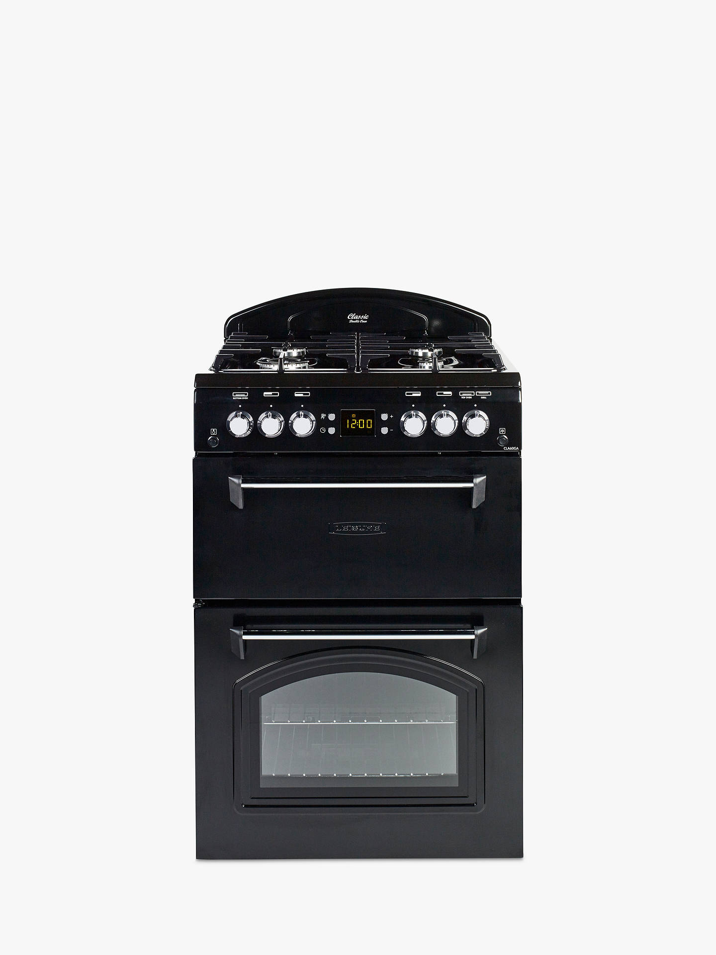 Buy Leisure CLA60GAK Classic Gas Cooker, Black Online at johnlewis.com