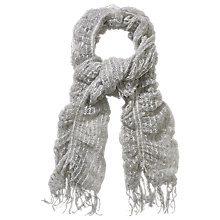 Buy Phase Eight Sally Swirl Scarf, Pale Grey Online at johnlewis.com
