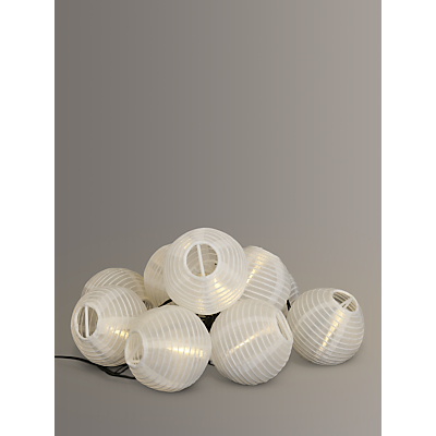 John Lewis Outdoor LED Solar Line Lights, White