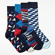 Buy Happy Socks Exclusive Gift Box, One Size, Pack of 4, Multi Online at johnlewis.com