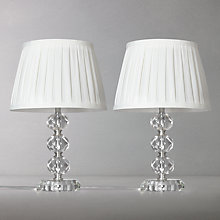 Buy John Lewis Leila Stacked Crystal Duo Table Lamp, Clear Online at johnlewis.com