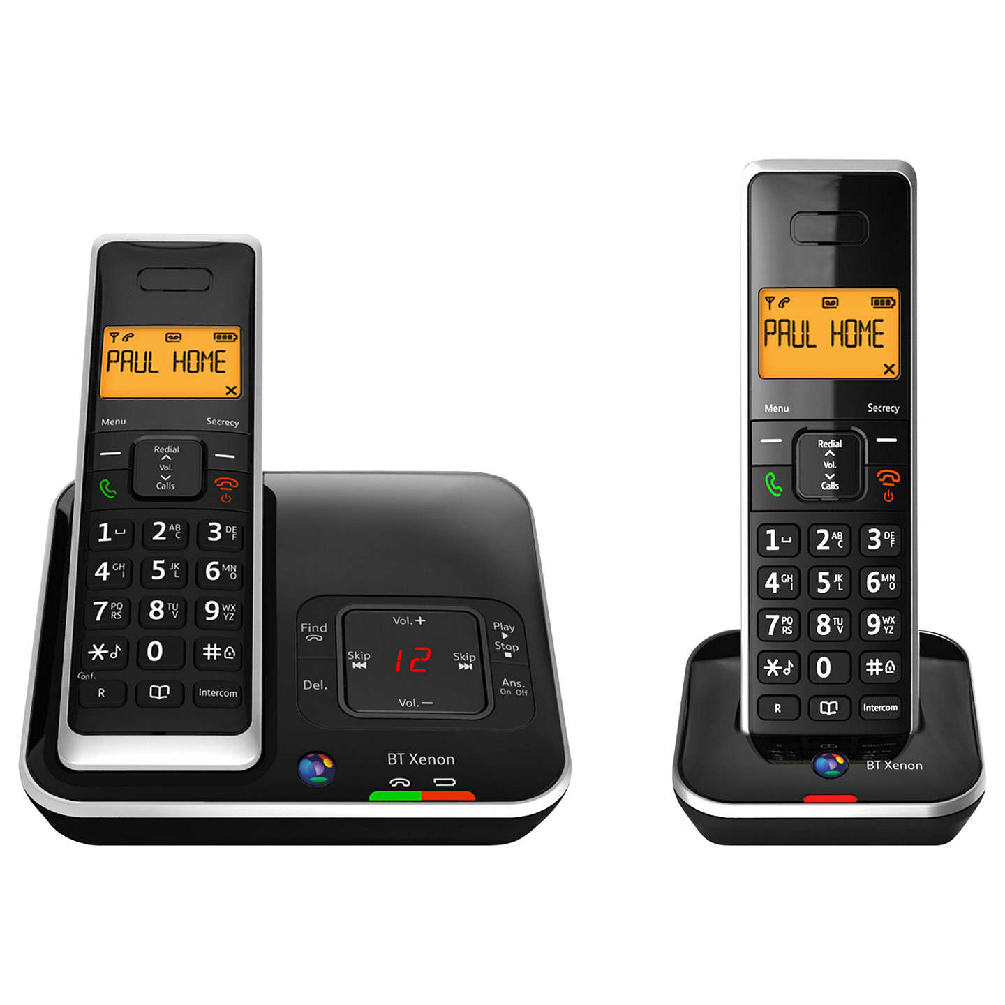 bt xenon 1500 cordless telephone with answering machine. Black Bedroom Furniture Sets. Home Design Ideas