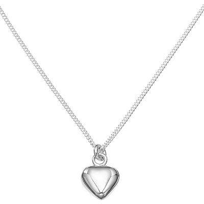 JOHN LEWIS   John Lewis & Partners Sterling Silver Heart Necklace   Goxip
