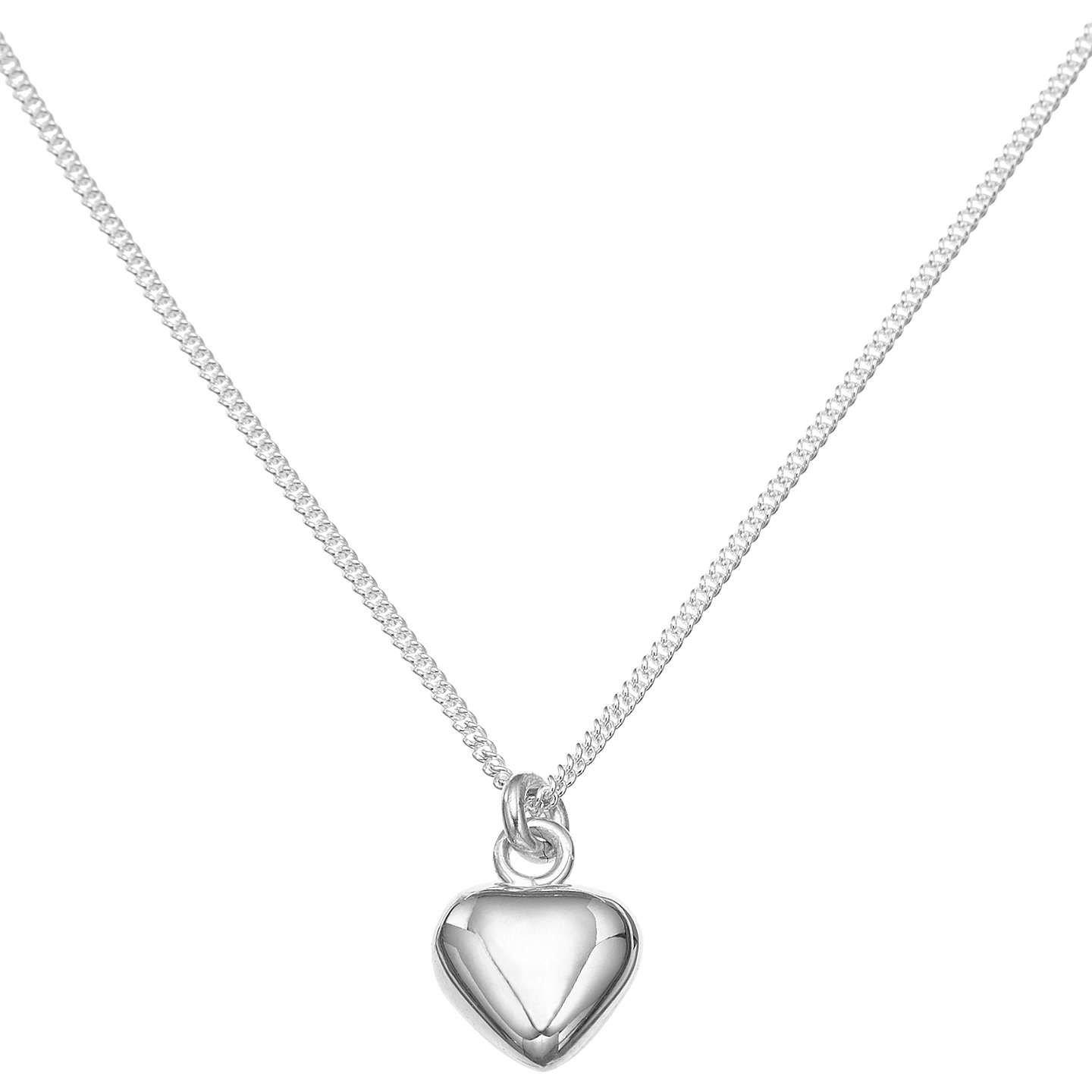BuyJohn Lewis Sterling Silver Heart Necklace Online at johnlewis.com