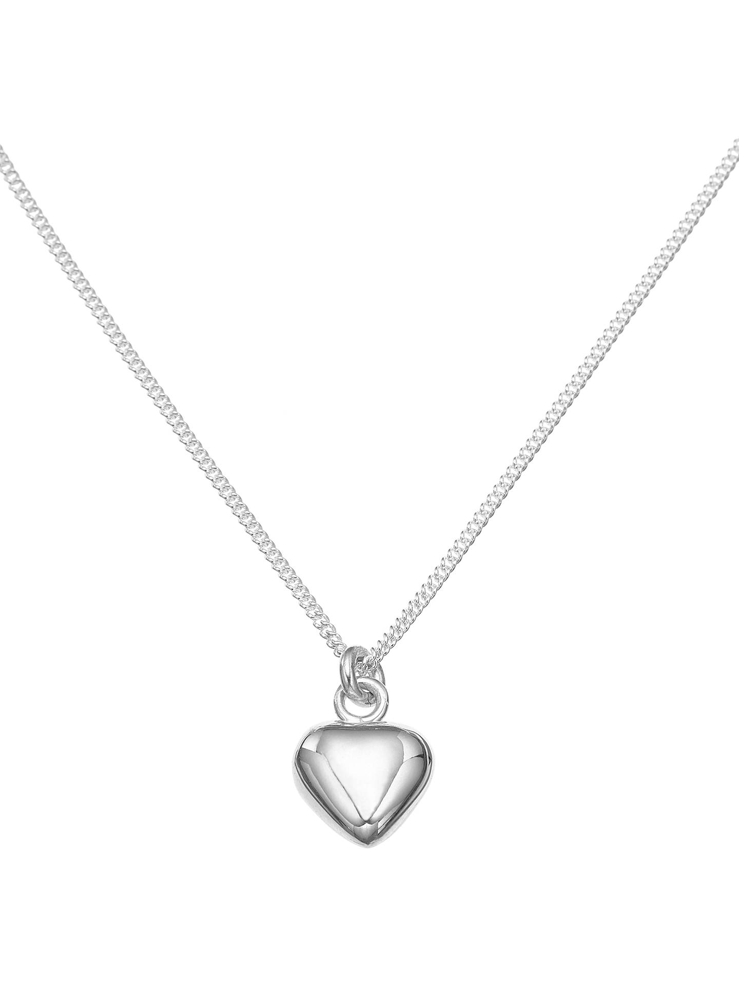 BuyJohn Lewis & Partners Sterling Silver Heart Necklace Online at johnlewis.com