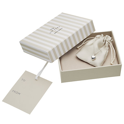 Buy John Lewis Sterling Silver Heart Necklace Online at johnlewis.com