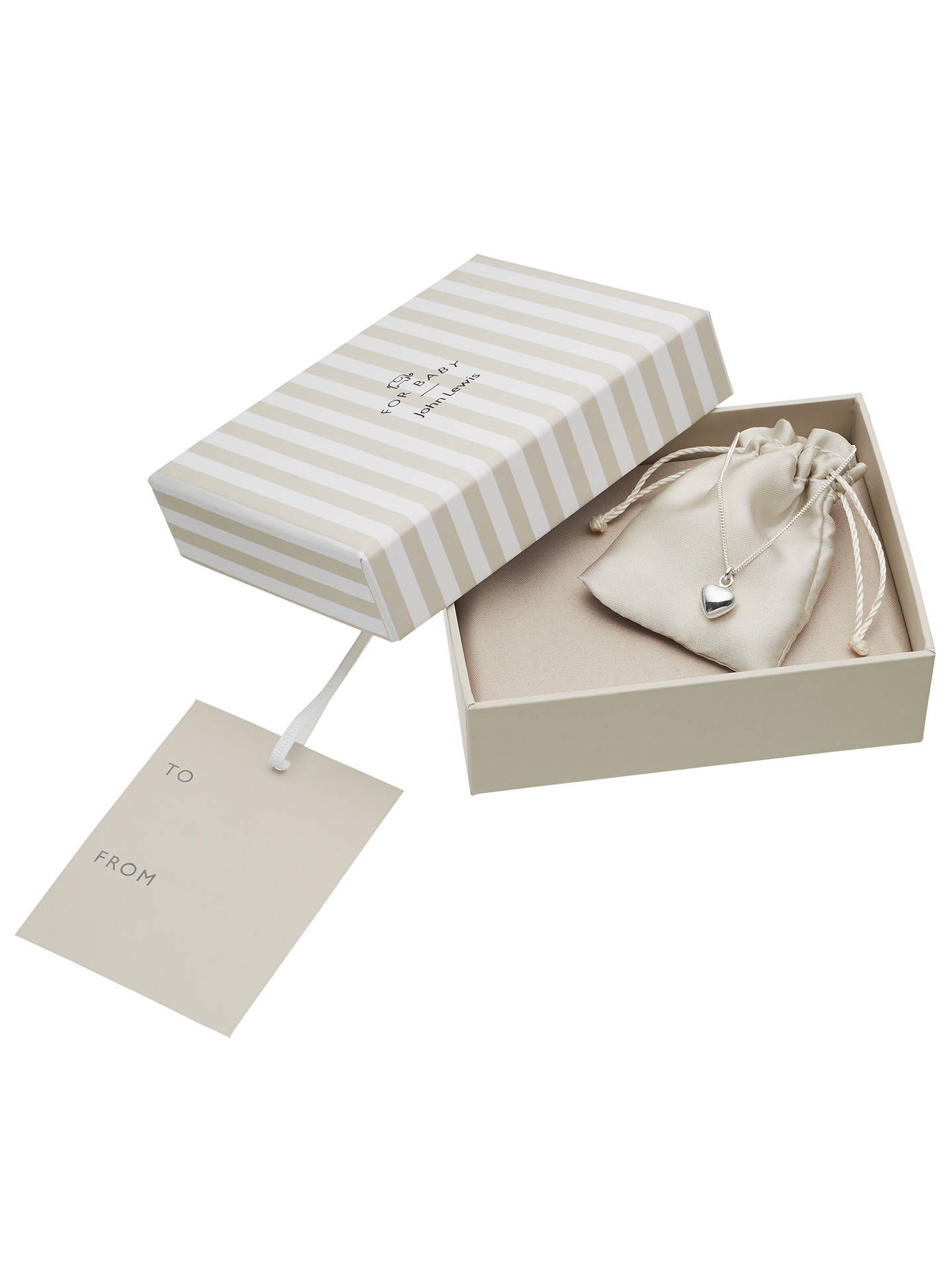 Buy John Lewis & Partners Sterling Silver Heart Necklace Online at johnlewis.com