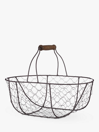 Buy Croft Collection Oval Wire Basket Online at johnlewis.com