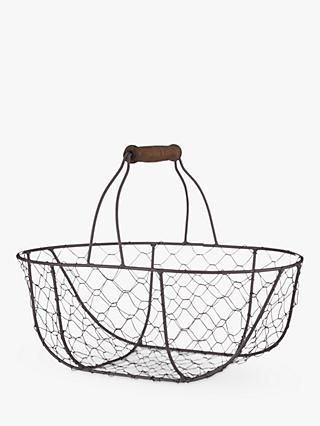 Croft Collection Oval Wire Basket