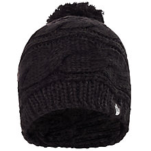 Buy The North Face Triple Cable Pom Beanie, One Size, Black Online at johnlewis.com