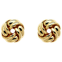 Buy Monet Knot Stud Earrings, Gold Online at johnlewis.com