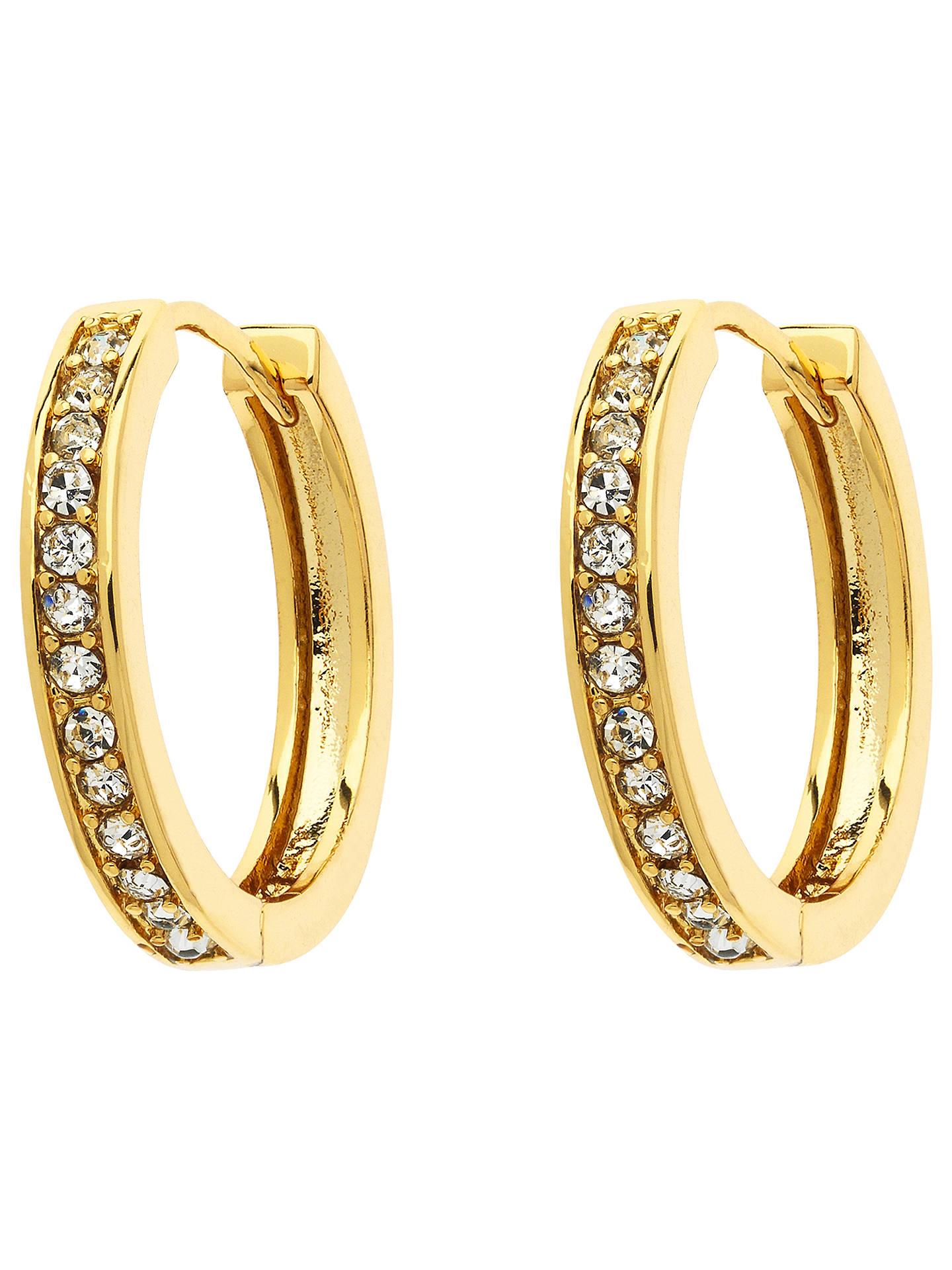 Monet Crystal Hoop Earrings Gold Online At Johnlewis