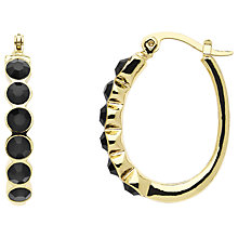 Buy Monet Jet Crystal Hoop Earrings Online at johnlewis.com