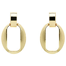 Buy Monet Open Oval Stud Earrings, Gold Online at johnlewis.com