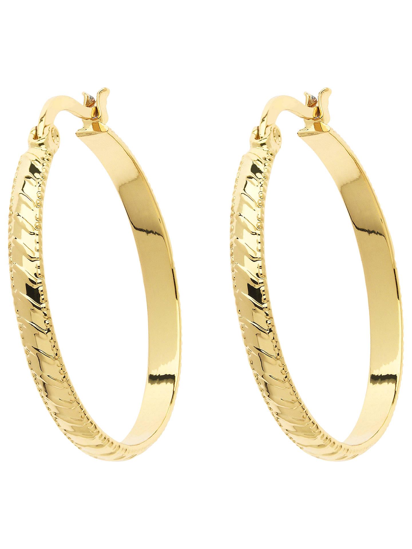 Monet Stripe Hoop Earrings Gold Online At Johnlewis