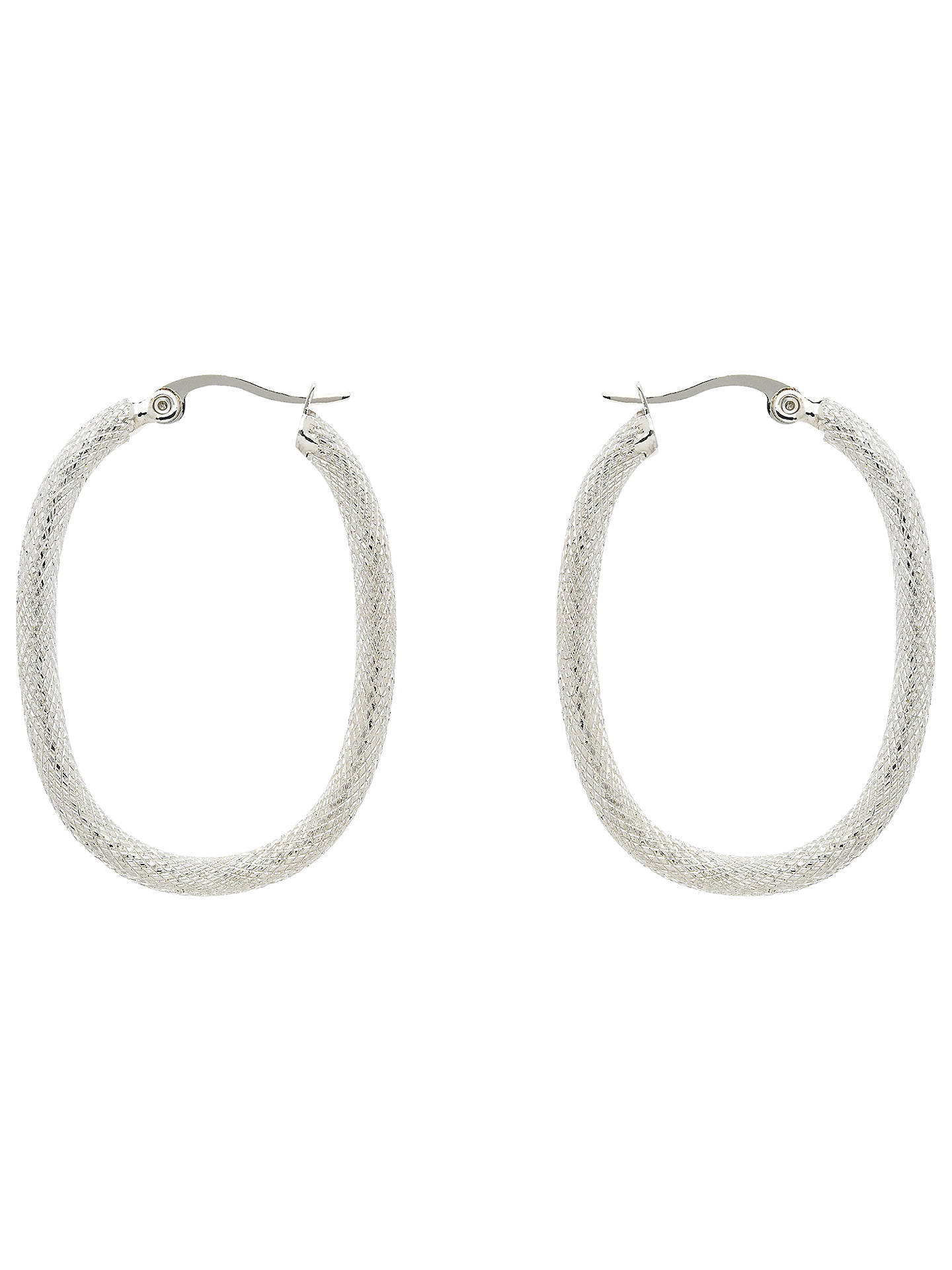 Monet Lattice Hoop Earrings Silver Online At Johnlewis