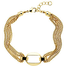 Buy Monet Chain Open Oval Bracelet, Gold Online at johnlewis.com