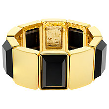 Buy Monet Jet Crystal Stretch Bracelet, Gold Online at johnlewis.com