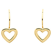 Buy Melissa Odabash Gold Plated Hook Heart Drop Earrings, Gold Online at johnlewis.com