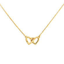 Buy Melissa Odabash Gold Plated Double Heart Necklace, Gold Online at johnlewis.com