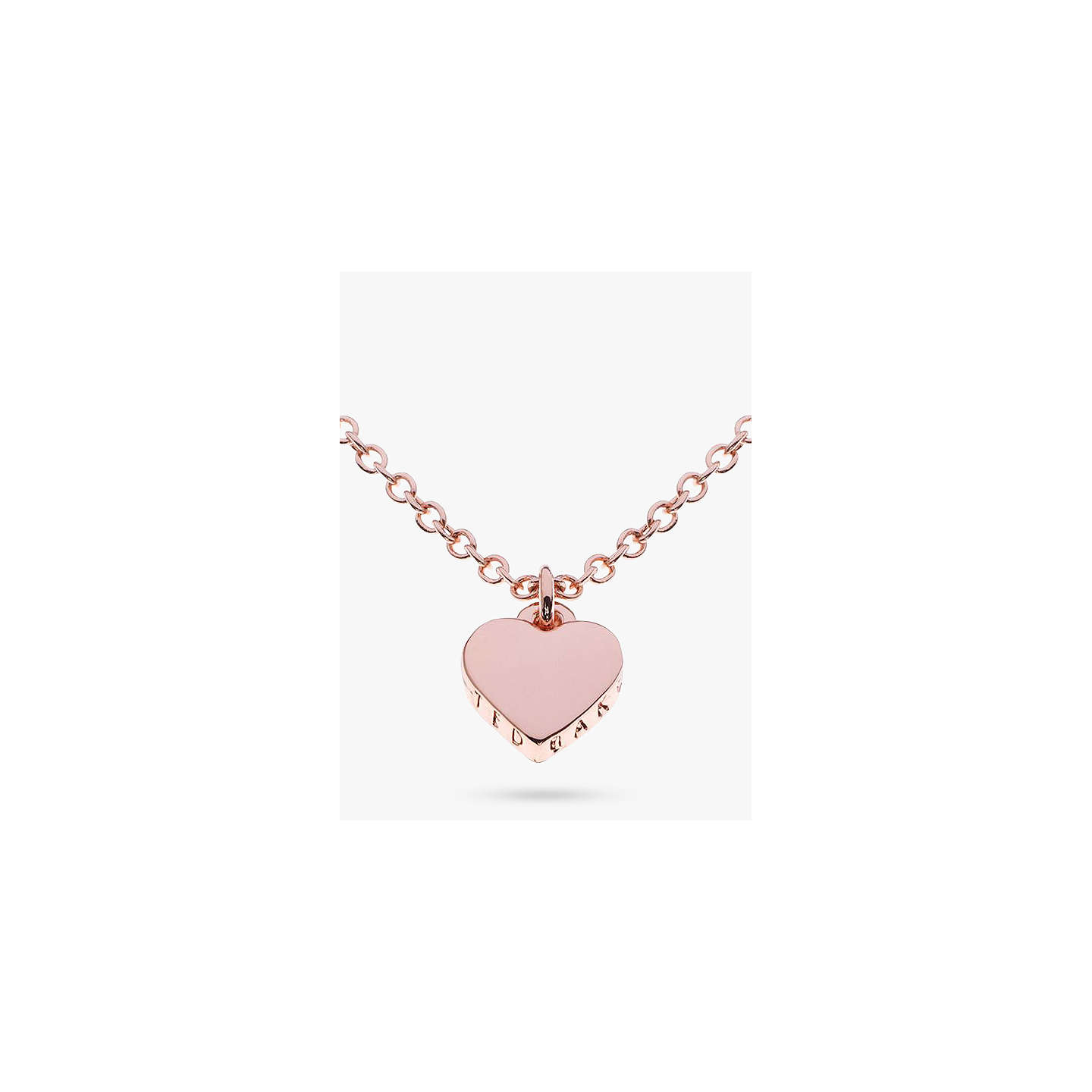 Ted baker hara tiny heart pendant necklace at john lewis buyted baker hara tiny heart pendant rose gold online at johnlewis mozeypictures Gallery
