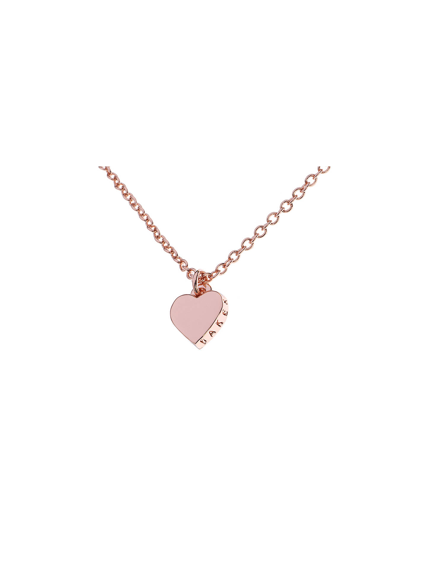 Ted Baker Hara Tiny Heart Pendant Necklace At John Lewis Partners