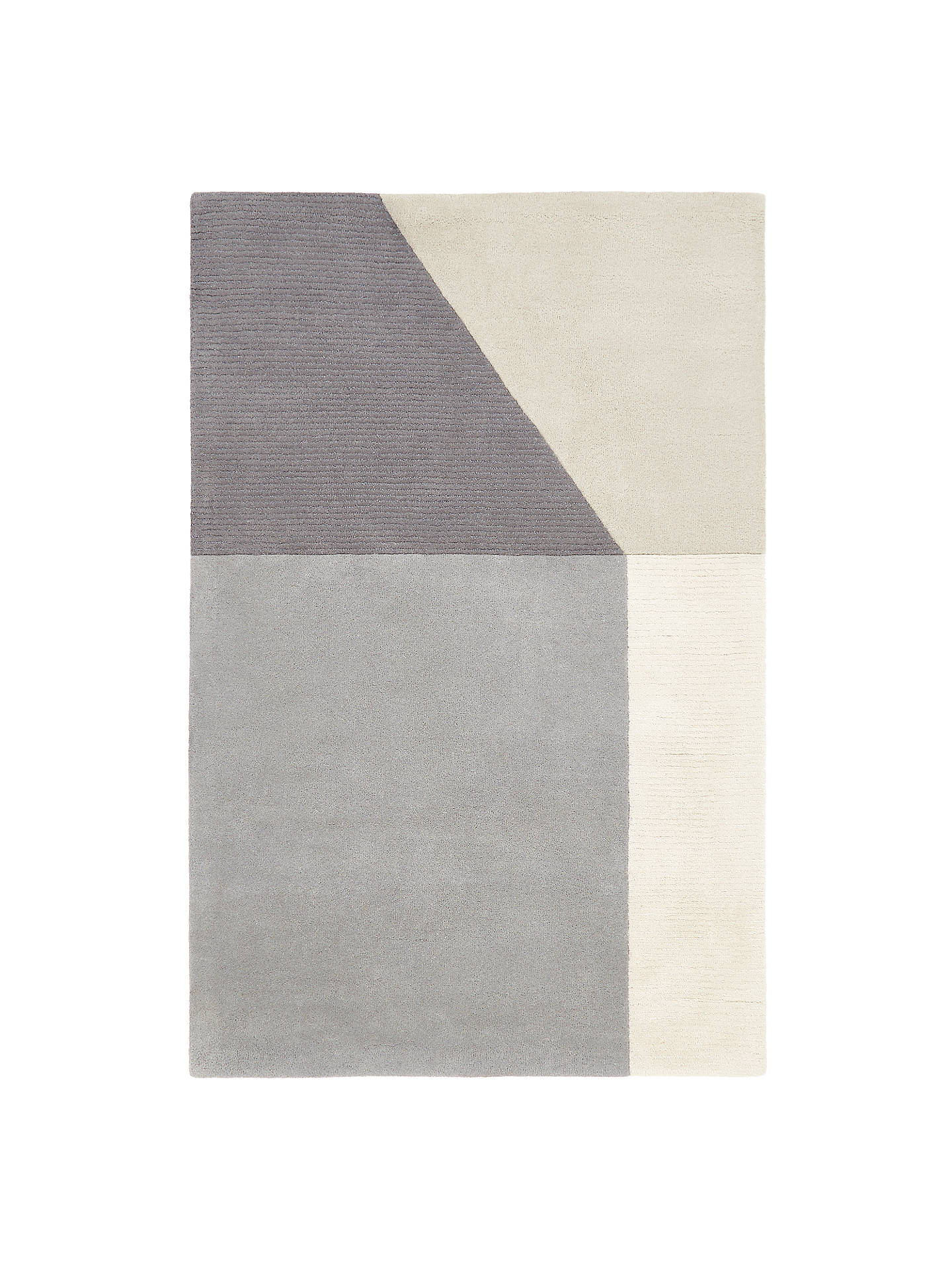 House By John Lewis Geo Rug Grey L230 X W160cm
