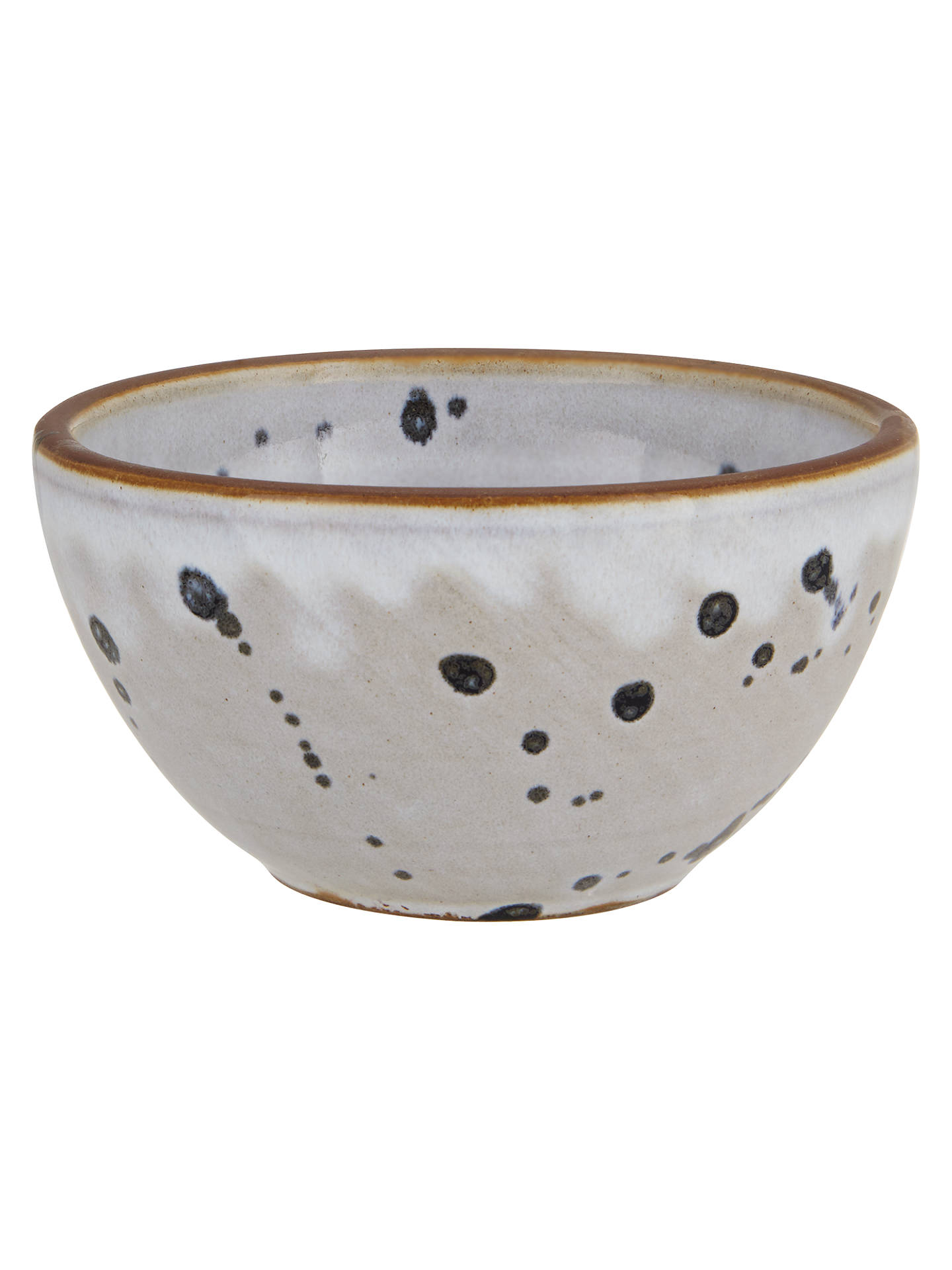 BuyDecoris Terracotta Bowl, White/Blue Online at johnlewis.com