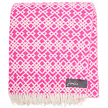 Buy Joules Marylebone Geometric Throw, Purple Online at johnlewis.com