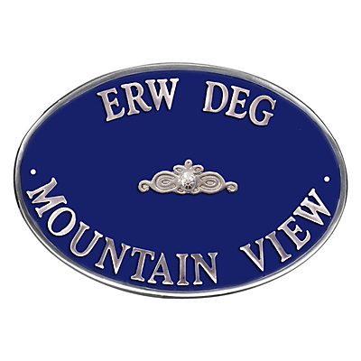 The House Nameplate Company Personalised Aluminium Oval House Sign, Scroll Motif