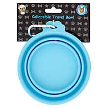 Buy Pet London Dog Travel Bowl, Large, Blue Online at johnlewis.com