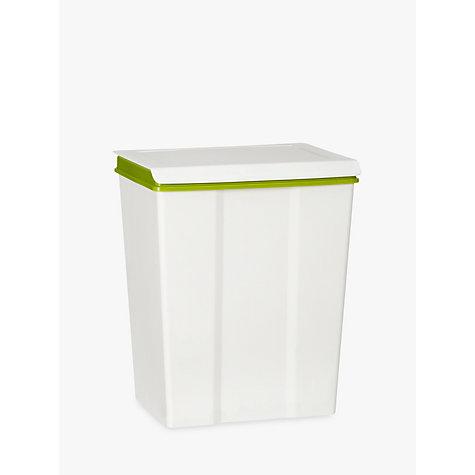buy john lewis medium recycling bin white 28l john lewis. Black Bedroom Furniture Sets. Home Design Ideas