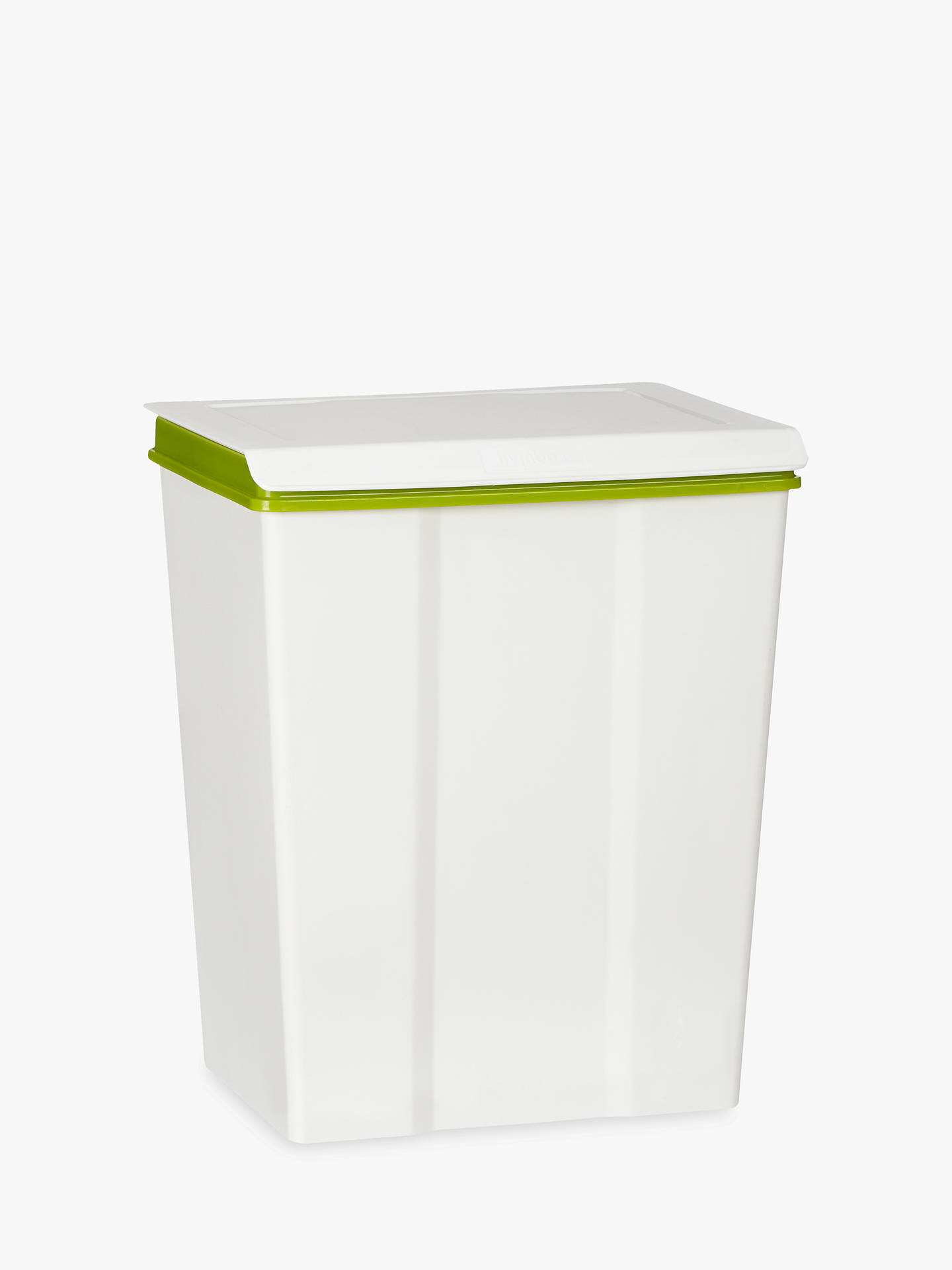 BuyJohn Lewis & Partners Medium Recycling Bin, White, 28L Online at johnlewis.com