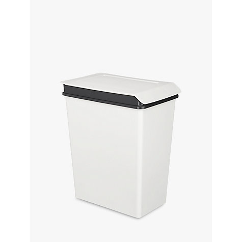 White Kitchen Bin small (up to 20l) | kitchen bins | john lewis