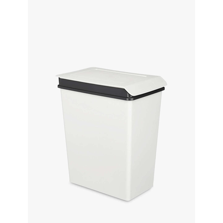 john lewis small recycling bin white 10l at john lewis. Black Bedroom Furniture Sets. Home Design Ideas