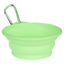 Buy Pet London Dog Travel Bowl, Medium, Green Online at johnlewis.com