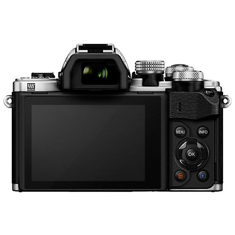 "Buy Olympus OM-D E-M10 Mark II Compact System Camera with 14-42mm EZ Lens, HD 1080p, 16.1MP, Wi-Fi, OLED EVF, 3"" LCD Touch Screen, Silver Online at johnlewis.com"