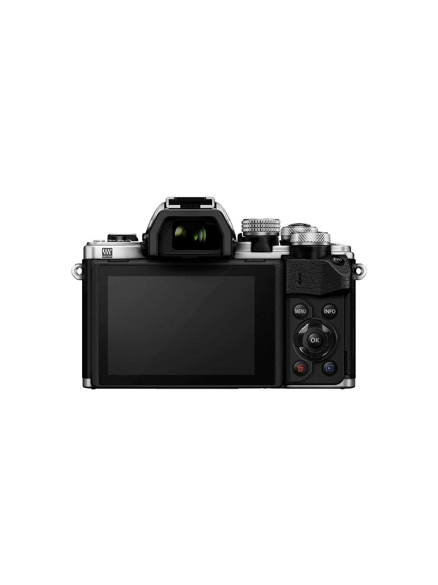 "BuyOlympus OM-D E-M10 Mark II Compact System Camera with 14-42mm EZ Lens, HD 1080p, 16.1MP, Wi-Fi, OLED EVF, 3"" LCD Touch Screen, Silver Online at johnlewis.com"