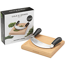 Buy Cole & Mason Mezzaluna and Board Online at johnlewis.com