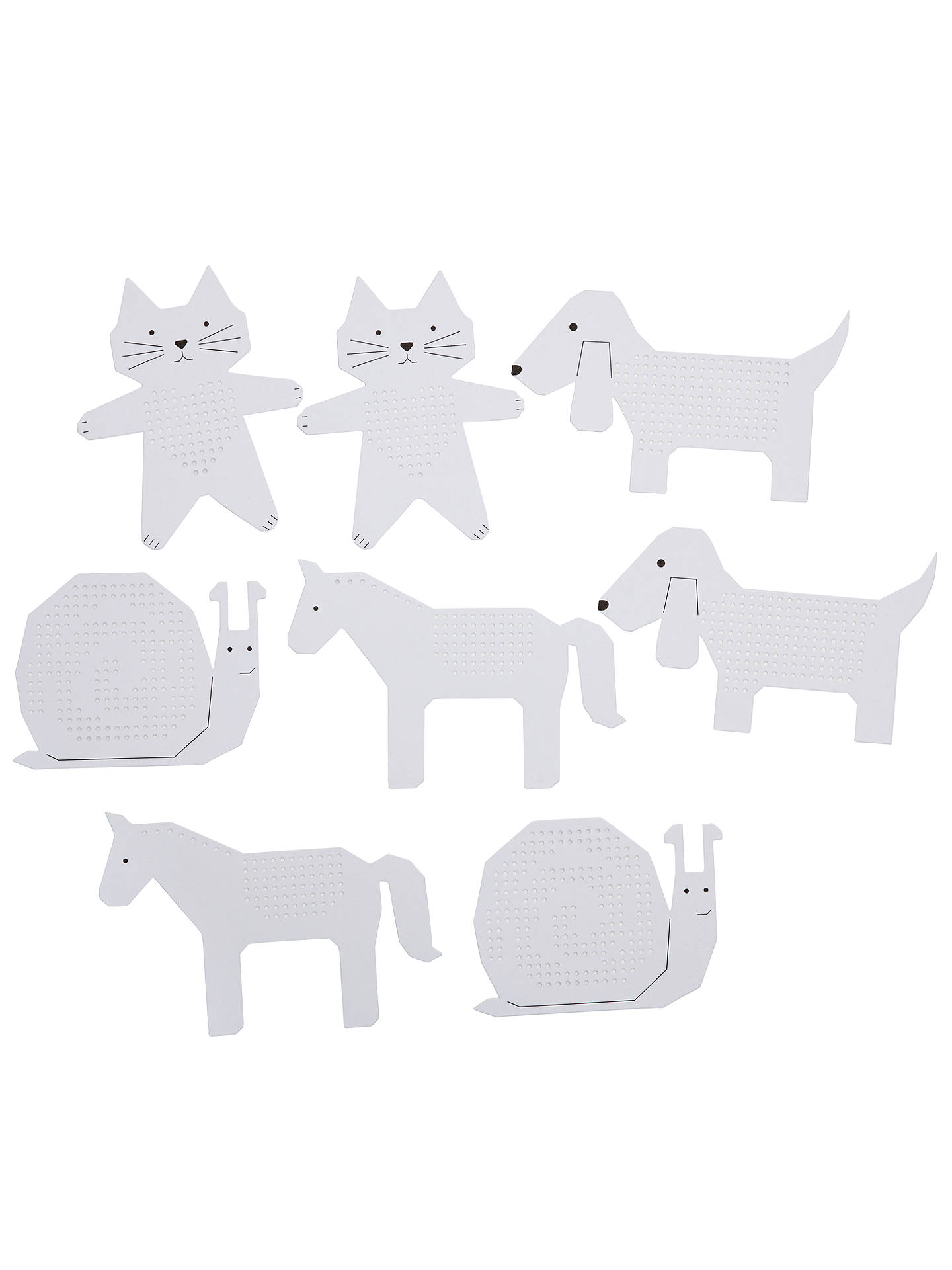 Buy Rico Animal Embroidery Boards, Pack of 8 Online at johnlewis.com
