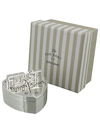 55affcaa7556 John Lewis & Partners 1st Tooth and Curl Heart Silver Plated Box