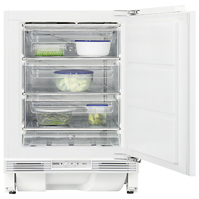 Zanussi ZQF11431DA Integrated Undercounter Freezer, A+ Energy Rating, 60cm Wide, White