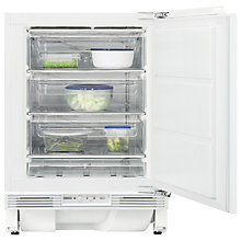 Buy Zanussi ZQF11431DA Integrated Undercounter Freezer, A+ Energy Rating, 60cm Wide, White Online at johnlewis.com