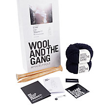 Buy Wool and the Gang Yummy Scarf Knit Kit, Midnight Blue Online at johnlewis.com