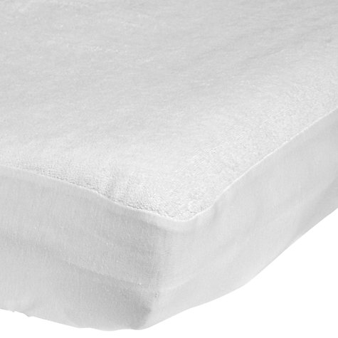 John Lewis Micro Fresh Towelling Cotbed Mattress Protector Online At Johnlewis