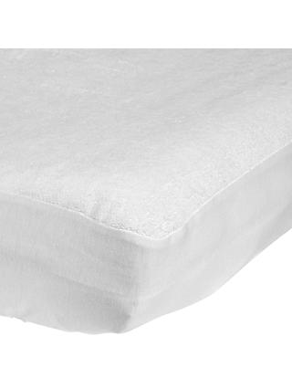 John Lewis & Partners Micro-Fresh Towelling Cotbed Mattress Protector