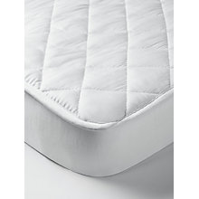 Buy John Lewis Micro-Fresh Quilted Cotton Cotbed Mattress Protector Online at johnlewis.com