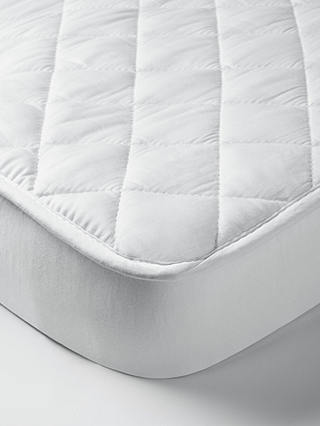 Buy John Lewis & Partners Micro-Fresh Quilted Cotton Cotbed Mattress Protector Online at johnlewis.com
