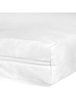 John Lewis & Partners Micro-Fresh Anti Allergy Small Cotbed Mattress Protector